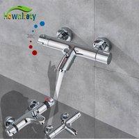 Torneiras de chuveiro termostático Banheiro Misturador termostático Torneira quente e frio banheiro misturador misturando válvula de torneira acessórios T200710
