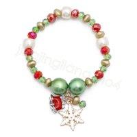 Bracelet perle de Noël Père Noël chaîne de bonhomme de neige Bracelet de bonbons Bracelet perles cadeaux de fête pour les enfants des enfants favorisent CYF4530-2