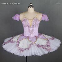 Delicioso lilás fada tutu para adulto meninas bailarina traje profissional tutu vestido personalizado tutus b180331
