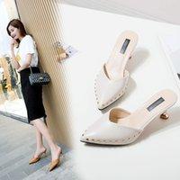 한 에디션은 여성의 신발 샌들 X1020 높은 발 뒤꿈치 슬리퍼 뾰족한 신발에게 가벼운 벌금을 냉각 바오 터우에서 한 단어입니다