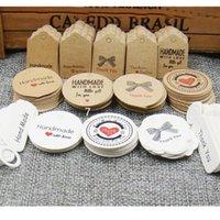 Мульти Cute Коричневый Белый подарка бумаги маркирующие Handmade ювелирных изделий Подвески Tag Круглый Свадебные сувениры Cookies Декоративные Тэг Благодарственное сердце HH9-3410