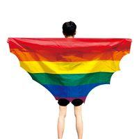 Arco-íris bandeira xale EUA Bandeira Cabo América Arco-íris Gay Orgulho Bandeiras Festival 90x150cm Party Banner Decorações Suprimentos 196 N2
