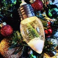 6 LED Snow Globe String Light Light Tree Decoration Decorazione Ghirlanda Partito Casa Vacanze Natale Natale Lampade notturne Drop Ornament Fairy luci 201127