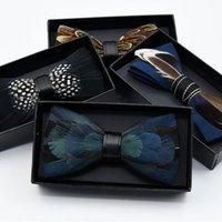 Lazos de arco Novedad Brid Feather Exquisite Hecho a mano Pin Caja de regalo Caja de regalo para hombres Body Fiesta Bowtie