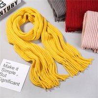 Sciarpe autunno inverno sciarpa per bambini caldo doppio lato carino lana lana versione coreana ragazzo ragazza spessa colore solido nappa semplice A112