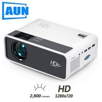 Aun Mini-Projektor D60, 2800 Lumen 1280x720P, LED-Projector für 1080p Home-Kino, optionaler D60-Android-WiFi-3D-Videobeamer.