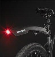 Rockbros Mountainbike Radfahren Fender Light-Weight-einstellbares Fahrrad-Machtguard Schnelle Freisetzung Fahrrad Mudguard mit Rücklicht
