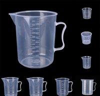 20ml / 30ml / 50ml / 500ml 투명 한 측정 컵 규모 식품 학년 플라스틱 측정 도구 DIY 베이킹 부엌 바 식당 BBYTVBI