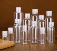 Plastikflasche Flip Schmetterlingsdeckel für Flüssigkeit 5ml 10ml 20ml 30ml 50 ml 60ml 100 ml 120 ml Reise ätherische Öle Parfüm PET-Flaschen mit Kappen