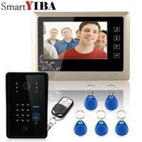 """Système de téléphone vidéo Smartyiba Wired 7 """"Système d'interphone de téléphone vidéo 5 RFID Numéro de code du clavier Numéro de sonnette 1 moniteur 1000TVL DÉVERSAGES SANS SIBL"""