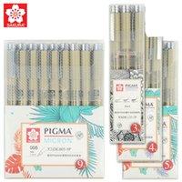 Sakura XSDK 005/01 / 2/3/4/5/8 / 1.0 Pigma Micron Fine Line Pen Set Multi-Color Agulha Desenho Pincel Esboço De Arte Supplies 201102