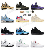 2021 Top Quality Jumpman 4 4s Bred Splatter Shoes Union Noir Cactus Jack Starfish Black Cat Sail Splatter Trainer Sneakers Sport Mens