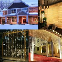 300 LED GADGET FANY STRING USB Cortina de control remoto Luces de la ventana Twinkle Christmas Fiesta decoración de la boda alambre de cobre 3x3m Garland Decoraciones
