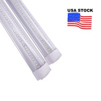 V 자형 통합 T8 LED 튜브 2 4 5 6 8 피트 LED 형광등 144W 8ft 6Rows LED 조명 튜브 쿨러 도어 조명