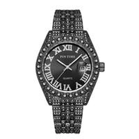 Pintime-Reloj Analógico de Acero Inoxidable Para Hombre, Accesorio de Pulsera de Cuarzo Resistente Al Agua Con Calendário, Complementar Masco
