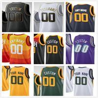 Personalizado impreso Donovan 45 Mitchell Mike 10 Conley Rudy 27 Gobert Bojan 44 Bogdanovic 00 Clarkson Hombres Mujer Niños Utah Jazz Basketball Jerseys