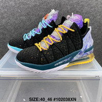 Lebron XVIII 18 James Gang Gang Future Oreo Black University Red Shoes Outdoor Scarpe da esterno Vendita calda 18s Jade Men Sneaker Trainer Size 40-46