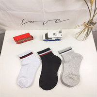 Mens Socks Fashion Striped Sport Cotton Breathable with 3 Co...