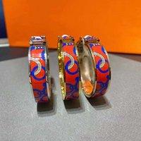 Brazalete de moda de esmalte de cobre de alta calidad Joyas de lujo y pulseras de oro de la pulsera de oro de la bracela de oro con caja original