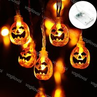 Halloween String Lights 1.5m 2m 3m 6m 3 V Zucca 3D Jack-O-Lantern Pumpkin Light Striscia batteria Ghirlanda Ghirlanda DHL