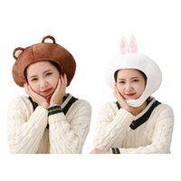 Adorável desenho animado cartoon chapéu de pelúcia bonito 3d orelhas de animal de pelúcia brinquedo de pelúcia headgear quente earflap tamp desempenho feriado festa