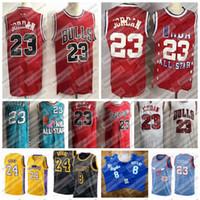 Mens Vintage Michael 23 Jor Dan ChicagoBoğa güreşiLosMeleklerLakeKobeBry24 basketbol forması