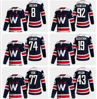 Alternate Navy Washington Capitales Jersey Hockey 8 Alex Ovechkin 77 TJ Oshie Tom Wilson Evgeny Kuznetsov 74 John Carlson 35 Henrik Lundqvist