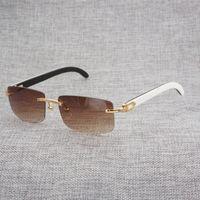 Lunettes de soleil Buffalo Naturel Buffalo Noir Blanc Hommes Miroir Holo Hous Miroir Gafas pour club de conduite Cadre lunettes Cadre Oculos Shades 012