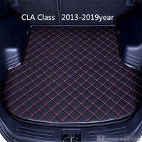 Car anti-skid trunk mat, waterproof leather carpet flat mat, flat mat suitable for Mercedes-Benz CLA Class 2013-2019year