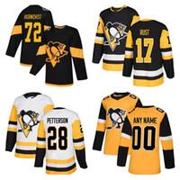 Homens crianças Mulheres Pittsburgh Penguins Jerseys 13 Tanev 17 RUST 66 Lemieux 8 DUMOULIN 71 Malkin 9 DUPUIS costume qualquer número qualquer jerse nome de hóquei