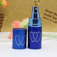 Refilable coração perfume frasco de alumínio alumínio atomzier óleos essencial difusor perfume frasco vazio pulverizador portátil transporte marítimo ffe4627