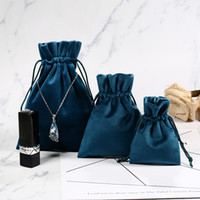 Custom Velvet Jewelry Gift Bags with Cord Drawstring Jewellery Cosmetic Storage Crafts Packaging Pouches for Boutique Retail Store