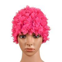 Урожай Цветочные дамы женщина Swim Cap Лепесток ретро бассейн Hat цветок шапочку Привлекательный Hat