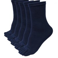 5 Paare Männer Sport Sport Fünf Finger Zehen Socken Elastische kurze Socken Socken Sokkens Atmungsaktiv Meias Sock Freeshipping # VD71
