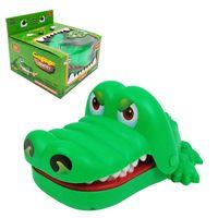 Кусание ручной крокодиловой игрушечной игрушкой пресс укус пальцем большой рот крокодил зубов образовательные игрушки для детей смешной классический крокодил