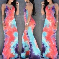 Donne estate boho multi colore moda sexy di alta qualità vendita a caldo lungo maxi abito da sera partito spiaggia abiti prendisole 1