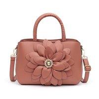 Alışveriş Tasarımcısı Casual Kadın Çantası 2021 Kadın Marka Deri Lüks Tote Çanta Omuz Için PU Çanta Çanta Çiçekler IOQJO