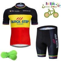 2020 Quick Step Step Etixx Cycling Shirt Quick Dry Bambini Bike Bambini Indossare Summer Wear Pro Cycling Jersey Boys Felpa 1