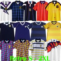 1978 1982 1982 1986 1991 1996 1996 كأس العالم اسكتلندا الرجعية لكرة القدم الفانيلة خمر جمع قمصان كرة القدم ستاشان مكستاي مجموعات الزي الرسمي