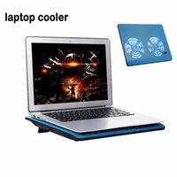 Охлаждающие колодки для охлаждения ноутбука Охладитель Высокопроизводительные Pad Двойные вентиляторы с двумя USB-портами держателя Поддержка для ноутбуков до 17 дюймов1