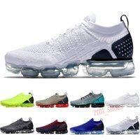 Nike Air VaporMax Flyknit 2.0 2018 Spor Ayakkabıları Kadın ve erkekler yüksek kaliteli Yürüyüş Ayakkabı Yürüyüş beyaz spor ayakkabı Z01 36-45 eur spor ayakkabısı