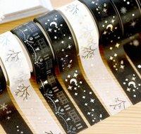 Jonvon Satone Mascaramento Fita Japonesa Bronzing Engulamento de Prata Decoração Etiquetas Diário Hand Book Washi Scrap BbyCDM WashingsLove