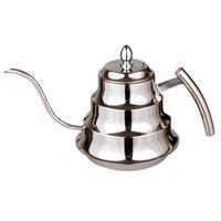 Кофе ROASTERS EWORLD Высокое Качество Кухонный горшок из нержавеющей стали капельницы, 1,2 л тонкий рот POT1