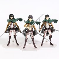 Figma Attack on Titan Eren Jaeger 207 Mikasa Ackerman 203 Levi 213 PVC Action Figure Collection Toy X0121