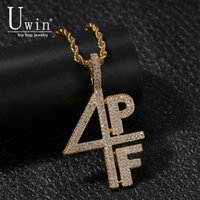 Uwin 4PF Pendant Cubic Zirconia Micro Paved Four Pockets Full LilBaby CZ Bling Iced Out Necklace For Men Jewelry LJ201007