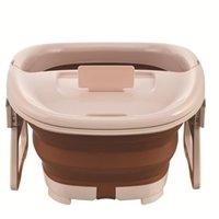 Pied de bain de pieds pliable Bateau à pieds Seau mousse moussante Bucket Sauna baignoire baignoire baignoire Basine Réduire Jllkja