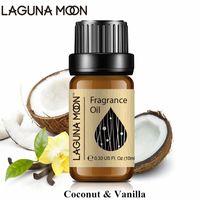 Лагунамун кокосовой ваниль 10 мл ароматного масла для DIY банные бомбы парфюмерии воздух свежий белый мускус лайм яблоко свежее льняное масло