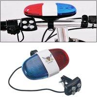 6LLED 4-TONE HORB CALL LED Bicycle Police Light Siren Sirena per bambini Guida Scooter Accessori Y200920