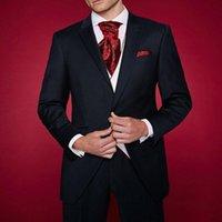 Custom Design Mens Dinner Party Prom men Suit Groom Tuxedos Groomsmen Wedding Blazer Suits for men 2020 (Jacket+Pants+Vest+Tie)
