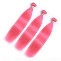 ما قبل الملونة الوردي الشعر البشري روز الوردي مستقيم ريمي الشعر الإنسان تمديد 10-30 بوصة البرازيلي الوردي عذراء الشعر حزم مزدوجة لحمة السفينة بسرعة